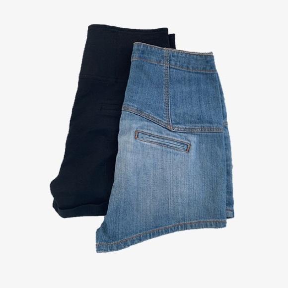 Bundle of 2 Pairs of High Waist Shorts